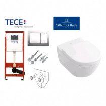 Potinkinio WC rėmo TECE ir klozeto Villeroy & Boch Subway 2.0 komplektas