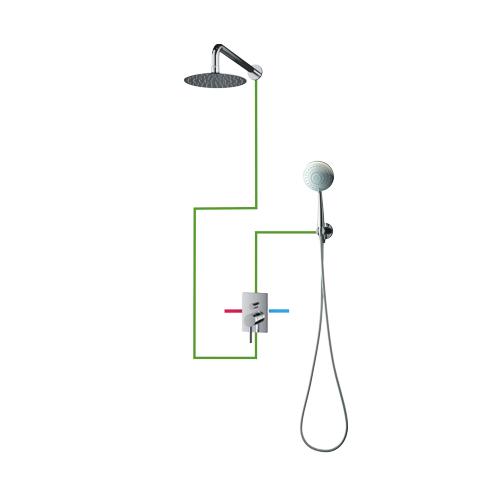 OMNIRES Y SYS Y23 potinkinė dušo sistema