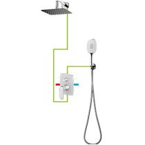 OMNIRES Sacramento SYS SC10 CRB baltos/chromo spalvos potinkinė dušo sistema