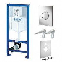 GROHE Rapid SL WC rėmo komplektas su klavišu, laikikliais, tarpine (4in1)