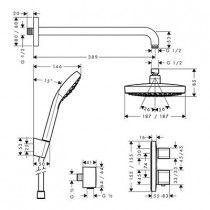 HANSGROHE Croma Select E180 potinkinis dušo komplektas