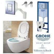 GROHE Fresh ir Villeroy & Boch Subway 2.0 Direct Flush komplektas
