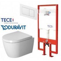 TECE ir Duravit Me by Starck Compact Rimless taupantis vietą WC komplektas