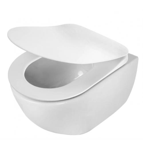 """DEANTE Peonia Pakabinamas WC puodas su ,,Rimfree"""" kraštu"""