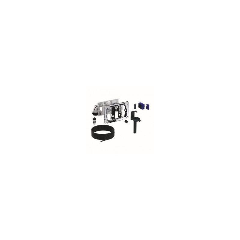 Geberit Duofresh kvapų ištraukimo priedas su sanitarinių kubelių priedu, rankinis įjungimas, Sigma 12 cm bakeliui.